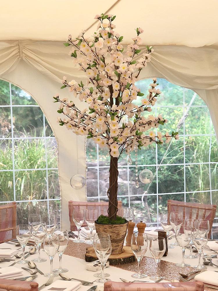 Centrepieces---pink-blossom