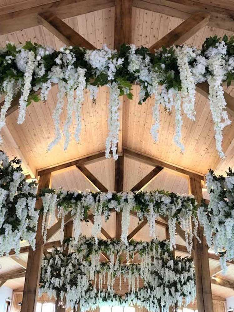 Hanging Garlands wedding hire 2