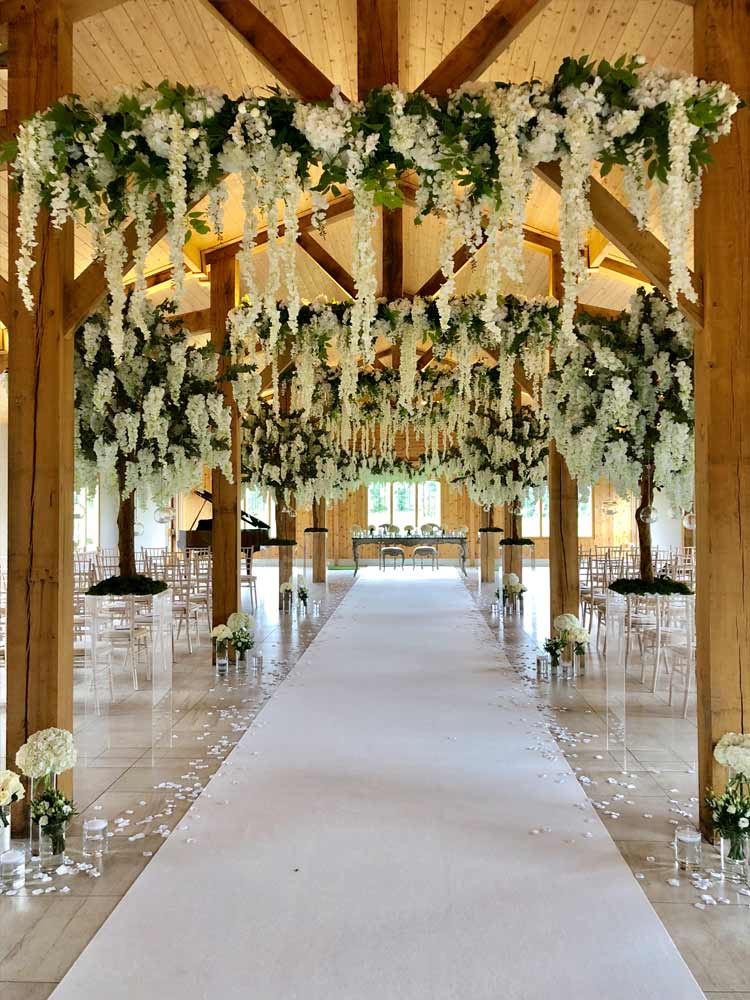Hanging Garlands wedding hire