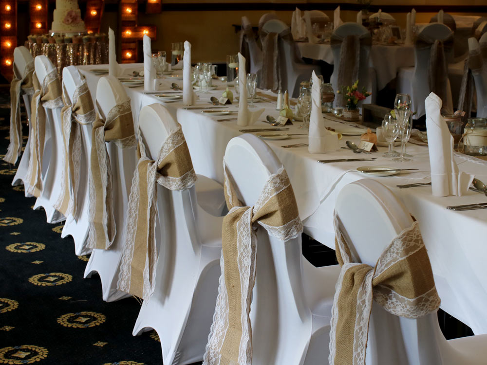 chair decor hessian-lace