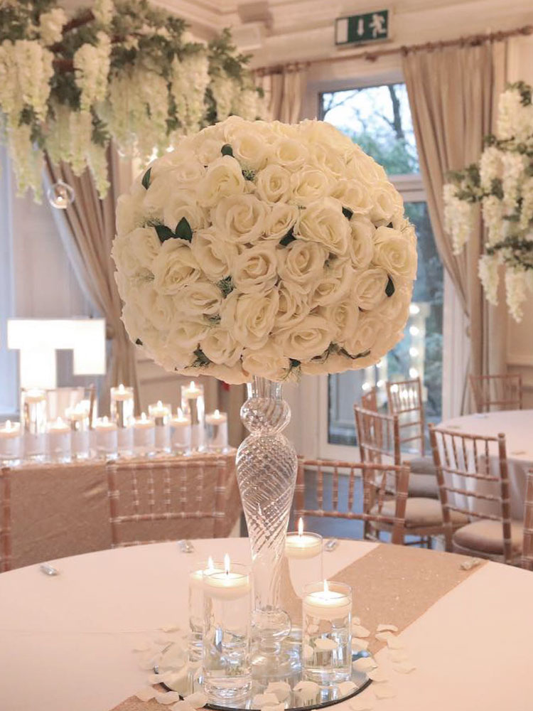 Floral-Pomander-Wedding-Centrepiece-Hire
