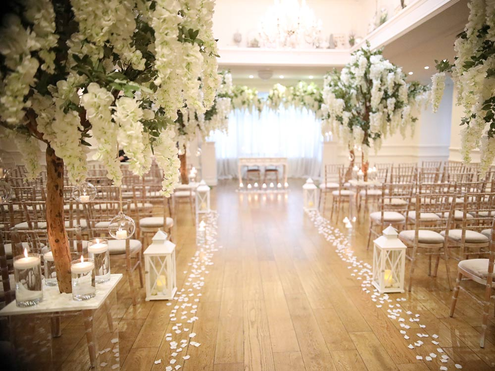 Venue-Dressing---Blossom-Tree-hire-Wrexham-Aisle-Decor