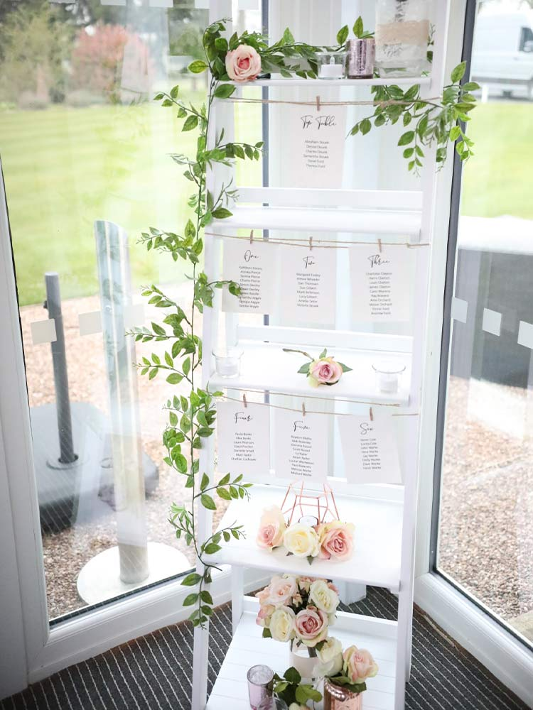 Wedding-Accessory-Hire---Table-Plan-Ladder-Hire