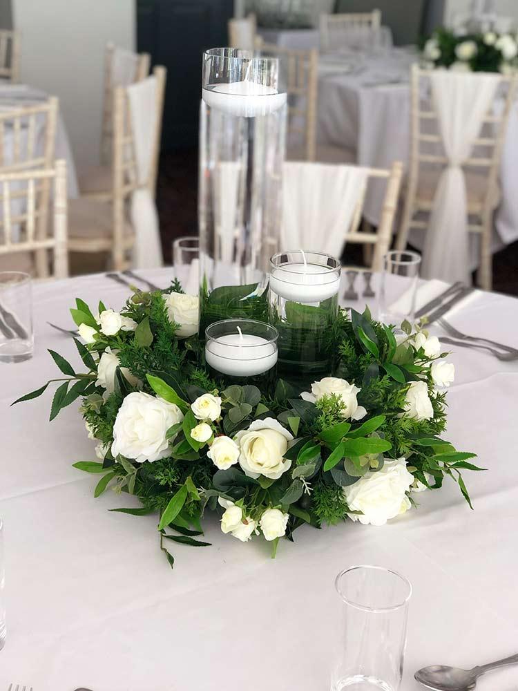 Table Centrepieces Floral Arrangements Uplit Event Hire