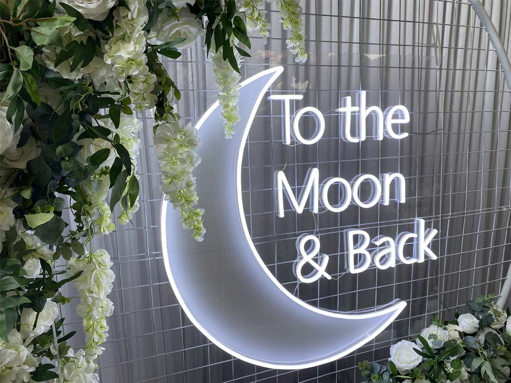 Neon Sign To the Moon and Back
